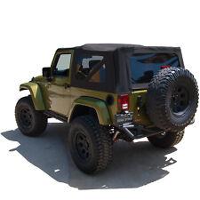 Jeep Wrangler JK Soft Top, 2010-17, Tinted Windows, Black Twill