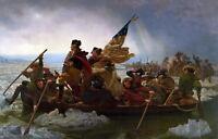 Canvas print old master Emanuel Leutze Washington Crossing the Delaware painting