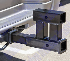Dual Double Trailer Hitch Mount Tow Bar Extender Fits Standard 2 in. Shank