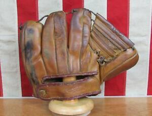 Vintage 1950s Rawlings Leather Baseball Glove 3 Finger Mitt HOF Stan Musial PML