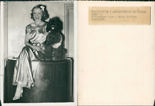 Ginette Catriens, mademoiselle France 1939 Vintage silver print Tirage argenti