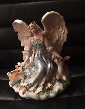 Fitz and Floyd Peaceable Kingdom Angel Pillar Candle Holder