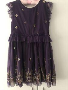 Mini Boden Harry Potter Hogwarts Purple Tulle Dress Age 9-10