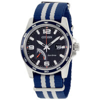 Citizen PRT Blue Dial Canvas Strap Men's Watch AW703804L