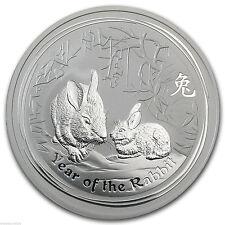 2011 2oz Silver Australian Lunar Year of the Rabbit .999 Silver