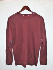 Men's James Perse Sweatshirt Crew Neck Long Sleeve Burgundy Red Pullover Sz Med