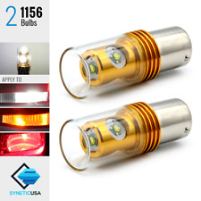 2x 1156/7506 6000K White High Power 20W Turn Signal/Brake/Backup LED Light Bulbs