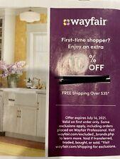 Wayfair Coupon 10% Off Expires 7/14/21