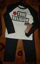 NWT $89 True Religion Kids Boy's Designer Outfit (L/S Shirt & Denim Pants)