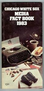 CHICAGO WHITE SOX ~ 1983 Media Guide & Fact Book