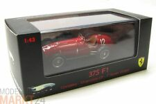 HOT WHEELS ELITE Ferrari 375 F1 Silverstone rot Modell Mint Maßstab 1:43 - OVP
