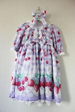 Sweet Lolita Angelic Pretty Replica Cute Lavender Cherry Marguerite OP Dress Set