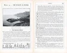 Corse Galeria Partinello 1912 photo + guide (6 p) Golfe de Girolata C. Porcolato