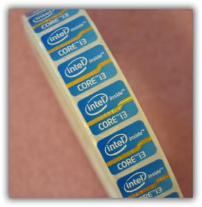 5pcs 2nd Gen Intel Core i3 Inside laptop Sticker Badge 15.5 x 21mm Blue USA ship