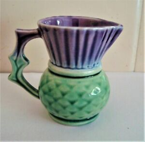 Vintage West Highland Pottery Dunoon Small Thistle Jug