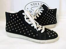 Steve Madden 6 M Twynkle Black Distressed Suede Fashion Sneaker New Women Shoes