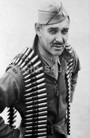 WW2 Picture Photo lieutenant clark gable with a belt of linked 50 caliber 1738
