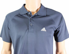 ADIDAS POLO SHIRT 95 CM Fits Small Gray 3-Button Raglan Sleeve Poly EUC
