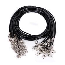 Wholesale 10pcs Bulk lot Suede Leather String 18 inch Necklace Cords Black