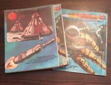 MEAD  *1980s* 3-Ring Binder w/ Folders Space theme astronaut clip board