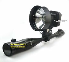 55w HID 150mm Rifle/Scope Mount Walking Spotlight, Adjustable Focus Spot Light