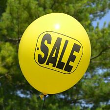 """Yellow Ballons with """"SALE"""" in black ink - Tuf Tex Latex 17"""" Balloons - 50 Pack"""