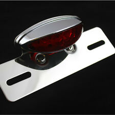 Custom Motorcycle Brake Tail Light License Plate Holder Bracket For Harley Honda