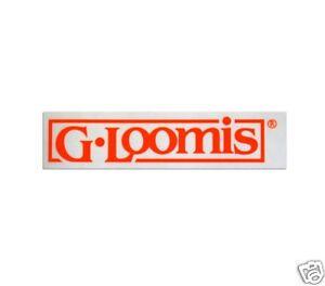 G. LOOMIS BOX STICKER- RED