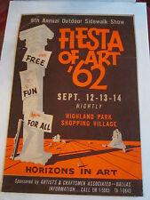 1962 FIESTA OF ART - HIGHLAND PARK SHOPPING VILLAGE POSTER - GOOD CONDIT.- TUB Q