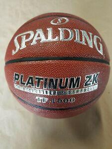 "Spalding (TF-1000) Platinum ZK Mens 29.5"" Microfiber Composite Basketball"