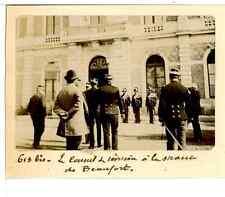 France, Le Conseil de Révision à la Mairie de Beaufort  Vintage citrate print.