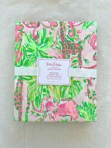 Pottery barn Kids Lilly Pulitzer Organic In On Parade Sheet Set Twin Flamingo