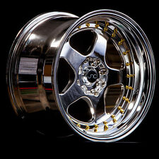 NEW JNC 010 WHEELS 16X8 4X100/4x114.3 +25 OFFSET PLATINUM SET OF 4 RIMS