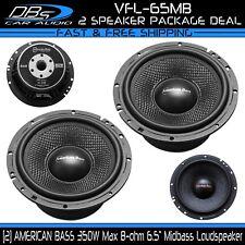 "2 American Bass VFL-65MB 6.5"" Car Audio Midbass Loud Speaker 700W 8 ohm 1 Pair"