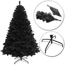 7ft Black Artificial Christmas Tree Xmas Halloween Home Decorations 210cm 2.1m