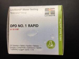 Lovibond DPD No1  511311BT Rapid Dissolve Water Test Tablets 250 tablet pack