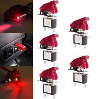 5X 12V/20A Auto KFZ LKW Schalter Kippschalter LED Beleuchtet EIN/AUS Rot