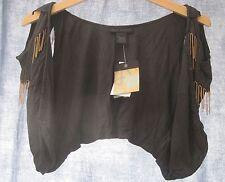 STEVE MADDEN CHAIN MAIL waistcoat SHRUG TOP 10-12 New STEAMPUNK black
