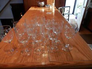 VINTAGE PRINCESS HOUSE HERITAGE set of 12 STEM WHITE/RED WINE GLASS GLASSES #420