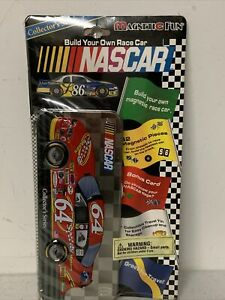 NEW w/ Tin NASCAR Build Your Own Magnetic Race Car Collector Series - 62 Magnets