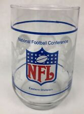 VINTAGE NFL NFC EASTERN DIVISION GLASS - EAGLES REDSKINS COWBOYS GIANTS FSTSHP