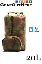 Aqua Quest Himal - 100% Waterproof Ultra Light Backpack Dry Bag 20L - Camouflage