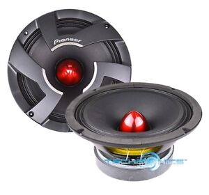 """PIONEER TS-M800PRO 8"""" PRO SERIES HIGH EFFICIENCY MID-BASS CAR SPEAKERS DRIVERS"""