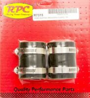RPC Radiator Hose Adapter - 2 in to 1-1/2 in - Rubber - Black - Kit R7315