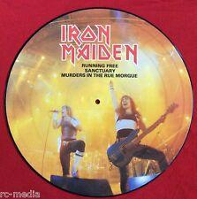 "IRON MAIDEN -Running Free- Rare UK 12"" Picture Disc (Vinyl Record)"