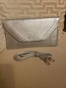 PATZINO SILVER.Women  Party Festival Clutch Removable Strap Wallet Purse Handbag