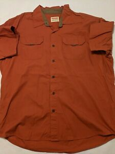 Wrangler Button Down Shirt Men's 2XL Short Sleeve Hiking/Outdoor
