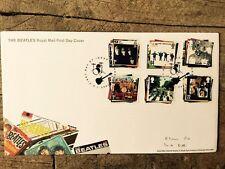 Royal Mail primer día cubierta sellos: el Sargento Pimienta Blanco ayudan a los álbumes de los Beatles