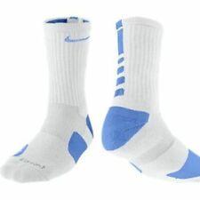 Nike Elite Basketball Socks SX3694-126 XL (Men Size 12-15) WHITE, CAROLINA BLUE