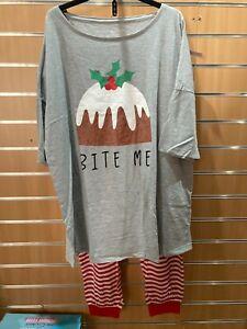 Pretty Secrets Xmas  pyjama set bnip uk size 24-26  Extra long top